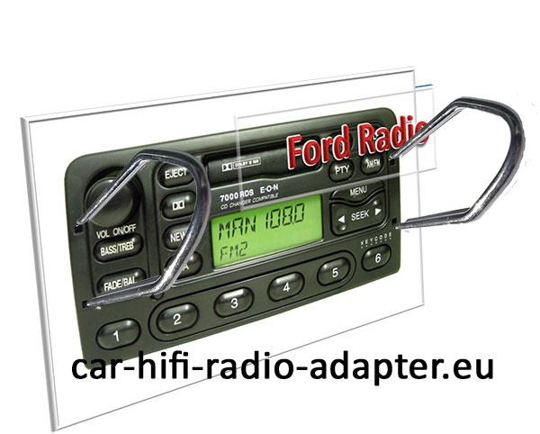 Ford Focus Radio Entriegelungsbügel einführen  Radiowechsel Ford Focus Einbauanleitung Ford Focus Radio Entriegelungsb  gel einf  hren