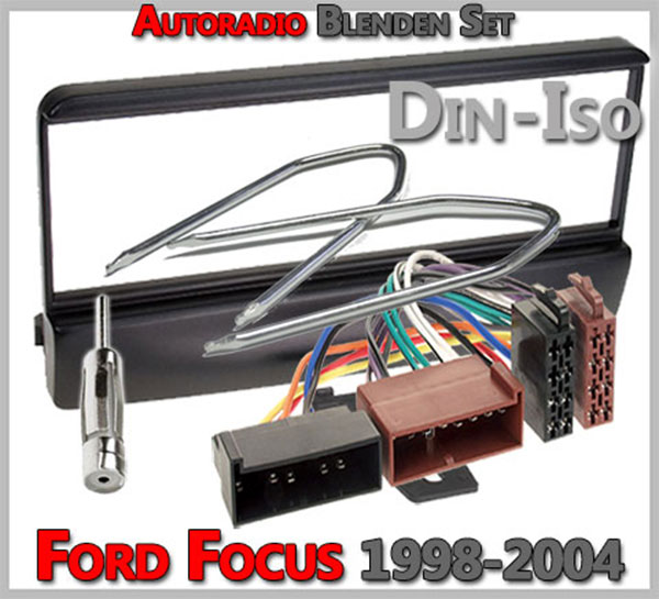 Ford Focus Radioblenden Set 1998-2004  Radiowechsel Ford Focus Einbauanleitung Ford Focus Radioblenden Set 1998 2004