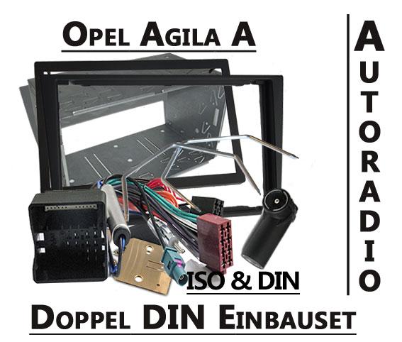 Opel-Agila-A-doppel-DIN-Autoradio-Einbauset