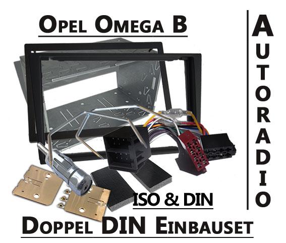 Opel-Omega-B-doppel-DIN-Autoradio-Einbauset