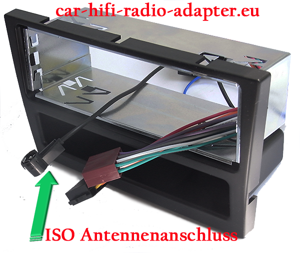 Antenneanschluss für Autoradios mit ISO