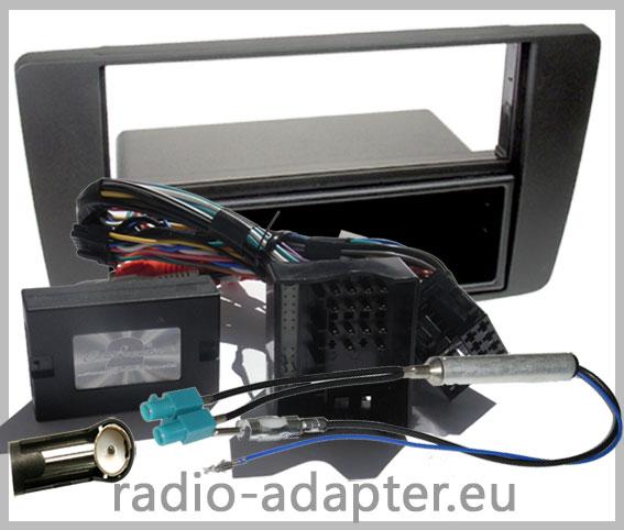 Skoda Octavia 2004-2008 Lenkrad Adapter Radioblende 1DIN Antennenadapter