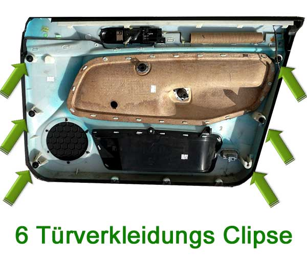 VW-Golf-4-Fahrerseite-Türverkleidung-Clipse
