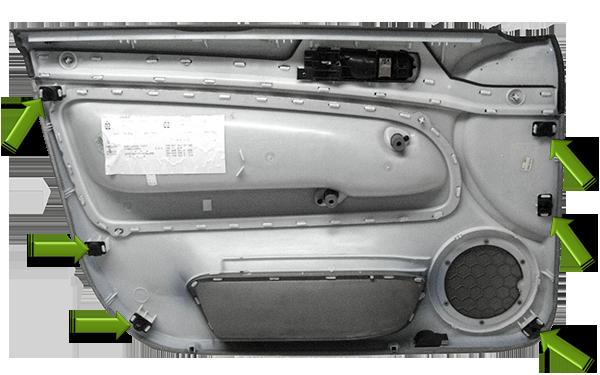Passat-B5-Beifahrer-Türverkleidung-Klipse-innen