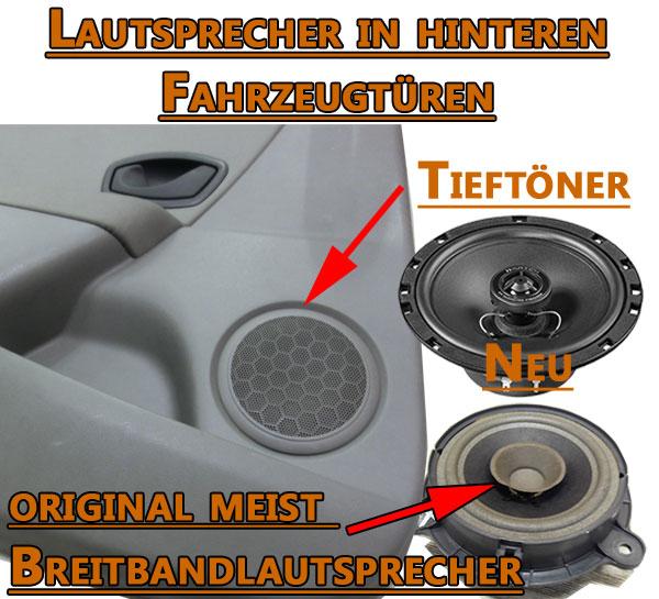 Lautsprecher-in-hinteren-Fahrzeugtüren fahrzeugspezifische lautsprecher Fahrzeugspezifische Lautsprecher einbauen Lautsprecher in hinteren Fahrzeugt  ren