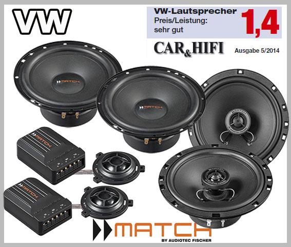VW New Beetle Lautsprecher für vordere und hintere Einbauplätze