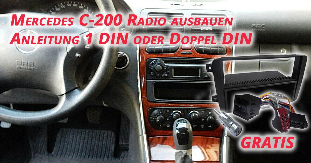 Mercedes C-200 Radio ausbauen Anleitung