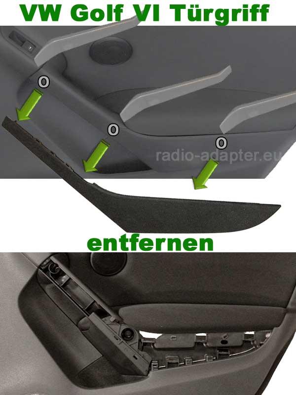 VW Golf VI Türgriff entfernen
