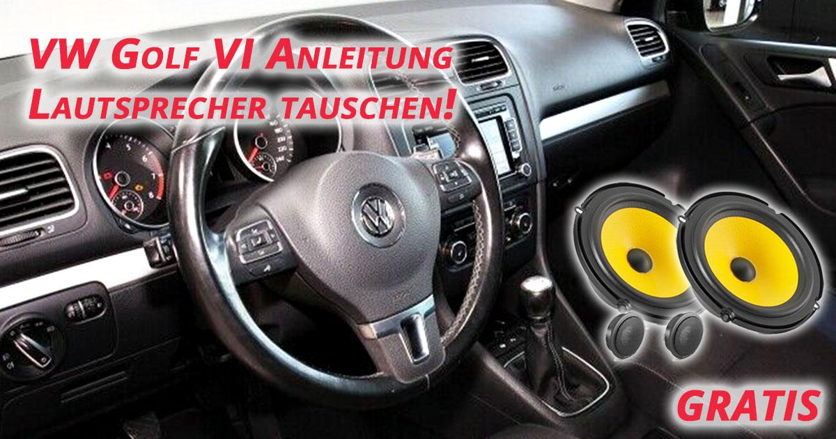 VW Golf 6 Lautsprecher hinten tauschen