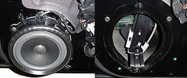 Audi A4-B6-Lautsprecher-ausbohren