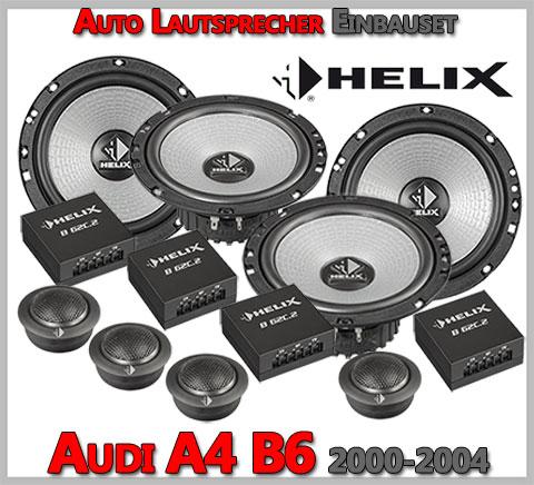 Audi-A4-B6-Lautsprecher-Komplettes-Einbauset