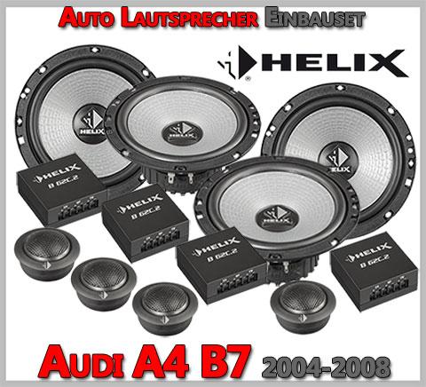 Audi-A4-B7-Lautsprecher-Komplettes-Einbauset