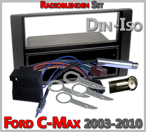 Ford C-Max Radioblenden Set 2003-2010-anthrazit