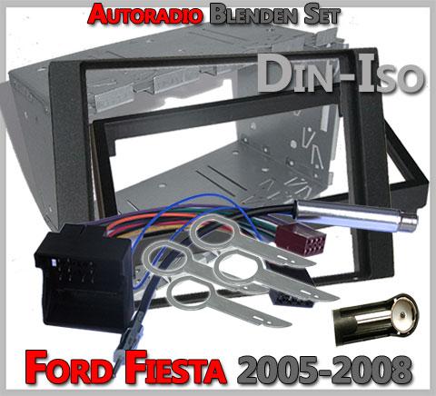 Ford Fiesta Doppel DIN Radioblenden Set-2005-2008