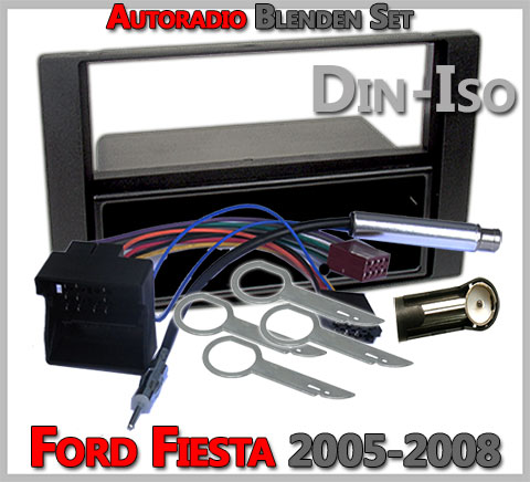 Ford Fiesta Radioblenden Set 2005-2008-anthrazit