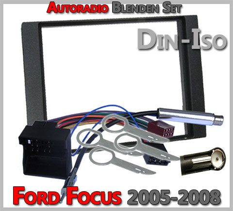 ford focus doppel din radioblenden set 2005 2008. Black Bedroom Furniture Sets. Home Design Ideas