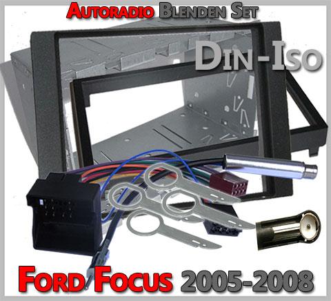 Ford Focus Doppel DIN Radioblenden Set-2005-2008