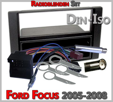 Ford Focus Radioblenden-Set 2005-2008-anthrazit