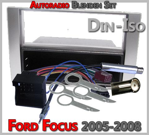 Ford Focus Radioeinbauset 2005-2008 Silber