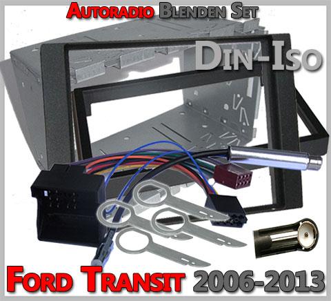 Ford Transit Doppel DIN Radioblenden Set 2006-2013