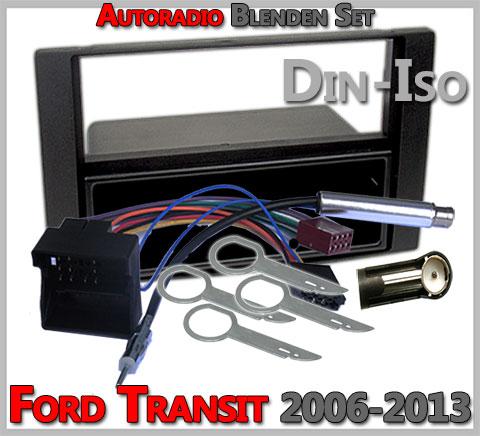 Ford Transit Set zum Radio Einbau 2006-2013 anthrazit