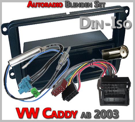 VW Caddy Radioblenden Set ab 2003