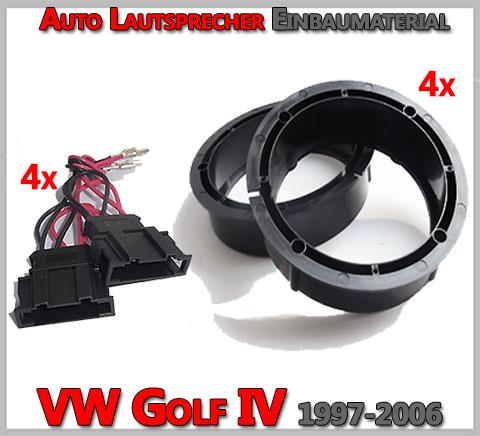 VW Golf IV Lautsprecher Einbaumaterial