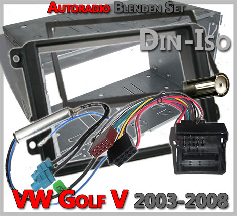 VW Golf V Doppel DIN Radioblenden Set 2003-2008