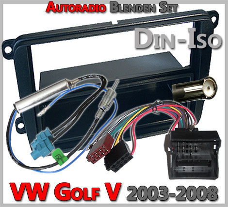 VW Golf V Radioblenden Set 2003-2008