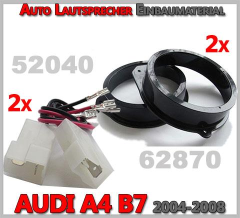 AUDI A4 B7 Lautsprecher Einbaumaterial vordere Türen