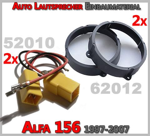 Alfa Romeo 156 Lautsprecher Einbaumaterial vordere Türen