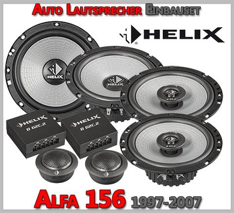 Alfa-Romeo-156-Lautsprecher-Komplettes-Einbauset