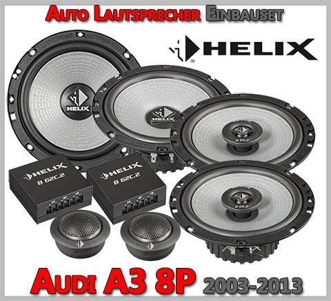 Audi-A3-8P-Lautsprecher-Komplettset-Dreitürer