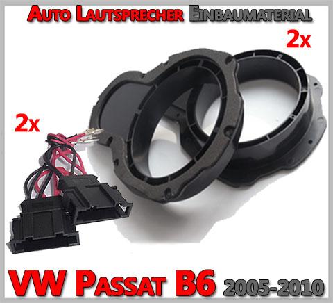 VW Passat B6 Lautsprecher Einbaumaterial vordere Türen