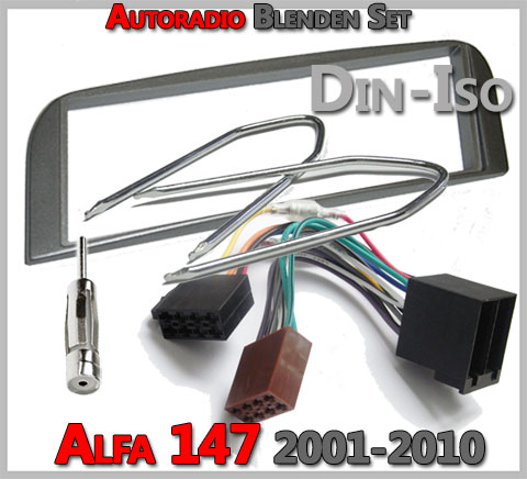 Alfa Romeo 147 Radioeinbauset 2001-2010 anthrazit