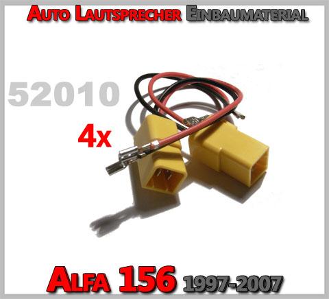 Alfa Romeo 156 Lautsprecher Einbaumaterial Kabel
