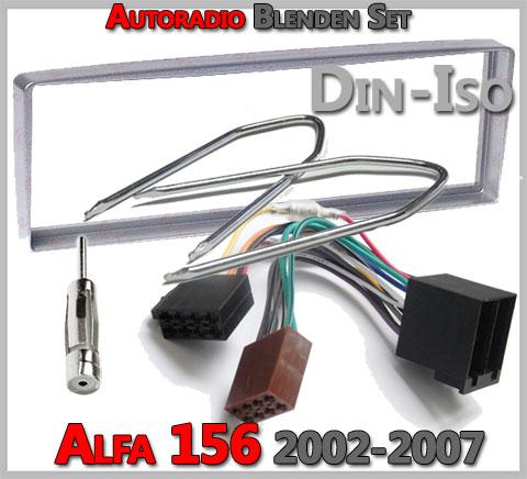 Alfa Romeo 156 Radioeinbauset 2002-2007 silber