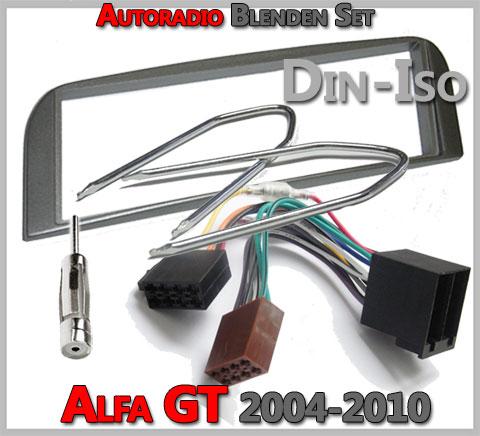 Alfa Romeo GT Radioblenden Set 2004-2010 anthrazit