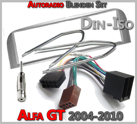 Alfa Romeo GT Radioblenden Set 2004-2010 silber
