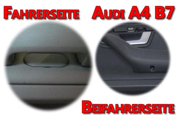 Audi A4 B7 Türverkleidung verborgene Schrauben