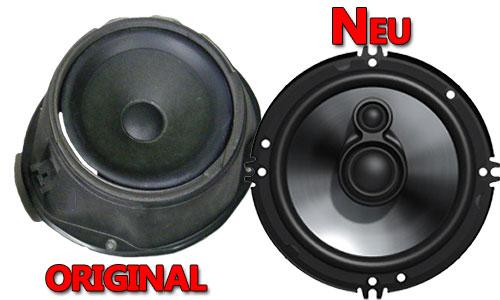 Beispiel Ford Focus II Lautsprecher Original oder Neu
