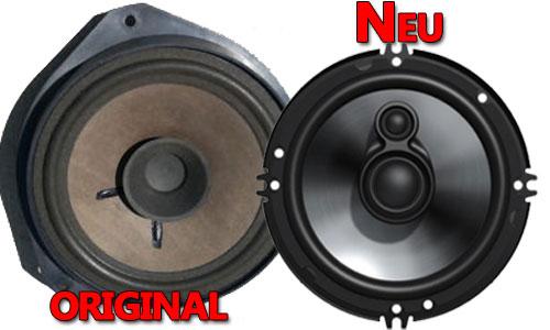 Beispiel Opel Corsa C Lautsprecher Original oder Neu Fusion Koax