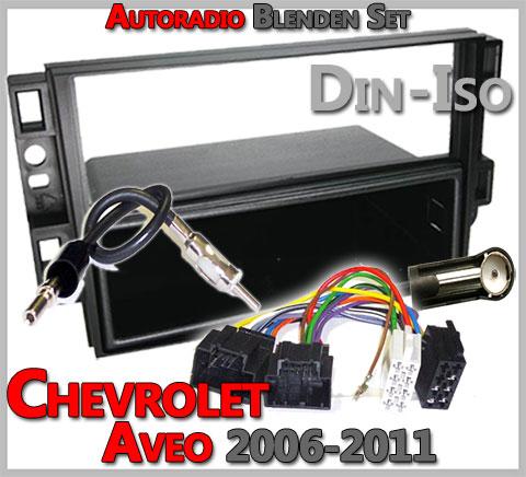 Chevrolet Aveo Radioblenden Set 2006-2011 1 DIN
