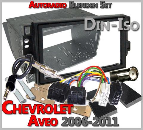 Chevrolet Aveo Radioblenden Set 2006-2011 Doppel DIN