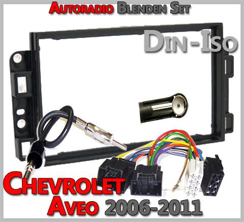 Chevrolet Aveo Radioblenden Set mit 2 DIN Einbaurahmen