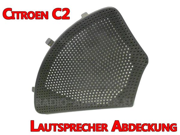 Citroen C2 Lautsprecher Abdeckgitter