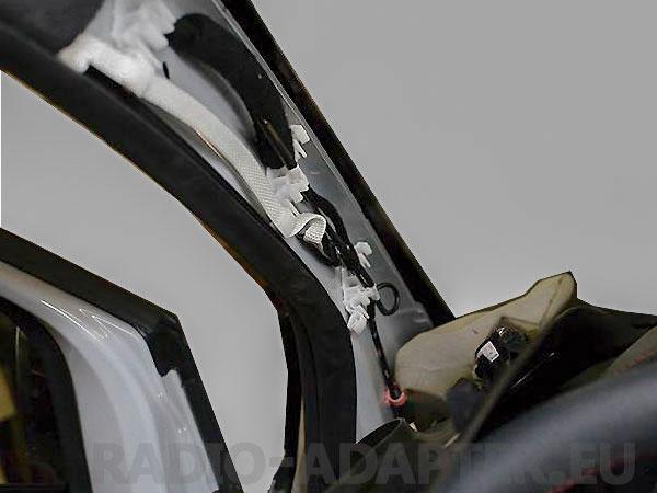 Fiat 500 A-Säulen Verkleidung demontiert
