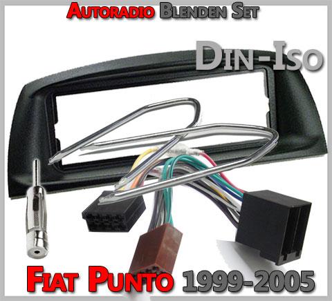 Fiat Punto Radioblenden Set 2001-2008 1 DIN