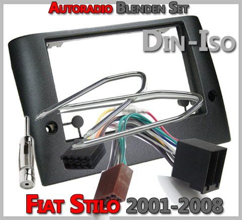 Fiat Stilo Radioblenden Set 2001-2008 Doppel DIN