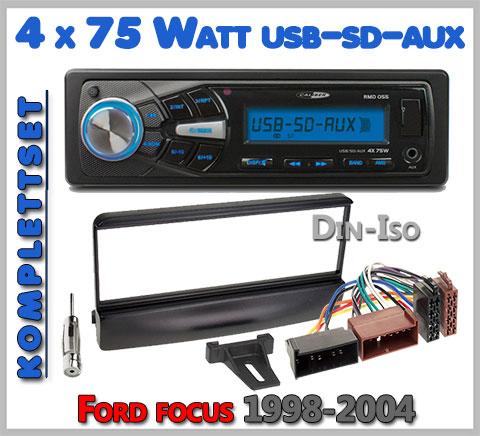 Ford Focus Autoradio Set geeignet von 1998-2004